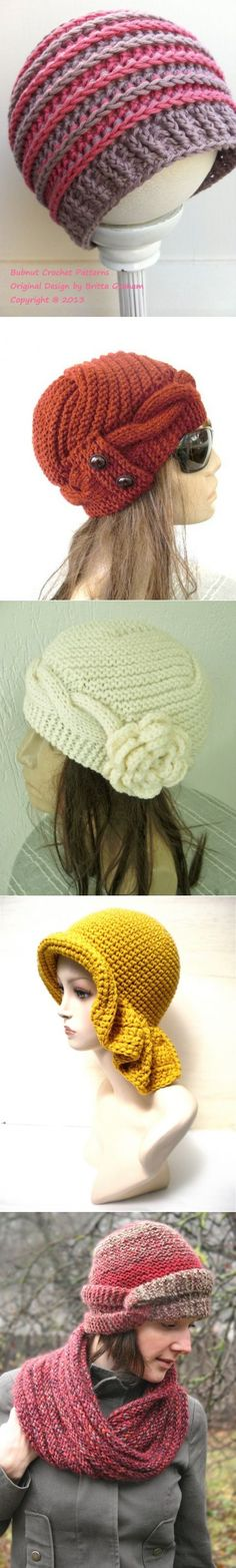 This Pin was discovered by Gen Bonnet Crochet, Crochet Beanie, Cute Crochet, Crochet Yarn, Crochet Hooks, Knitted Hats, Loom Knitting, Knitting Patterns, Crochet Patterns