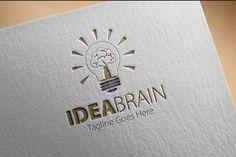 Check out Idea Brain Logo by samedia on Creative Market