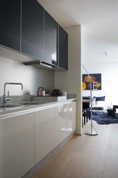 #Diseño de #cocinas en dos #colores. #linea3cocinas #Madrid