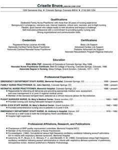 Graduate Nurse Practitioner CV Samples - http://resumesdesign.com ...
