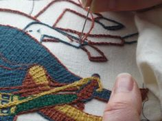 Bayeux Stitch series. (I am enjoying practising with Bayeux stitch on preparation for my large Bayeux Tapestry project. ~RB)