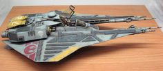Model conceptual space fighter STINGBAT 1/48 author's work by Peps