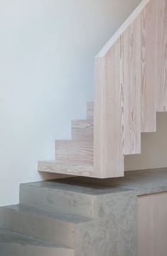 Home Stairs Design Architecture Stair tread House Wall Wood Architecture Design, Stairs Architecture, Minimalist Architecture, House Stairs, House Wall, Interior Stairs, Interior And Exterior, Timber Stair, Timber Flooring