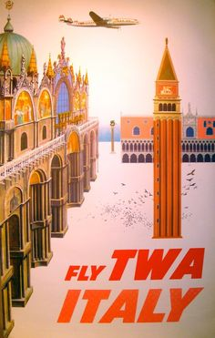 Italy...The first plane ride I took was to N.J...on TWA...Dad called it Top Wop Aboard...LOL....1970