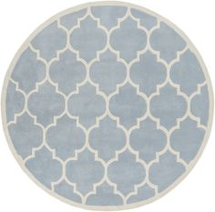 Transit Blue Geometric Piper Area Rug
