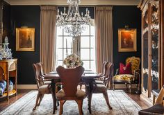 Joy Tribout Interior Design  ||  traditional dining room
