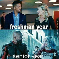 Freshman vs Senior year
