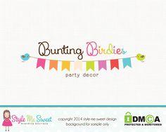 Bunting Birdie Premade Logo Design