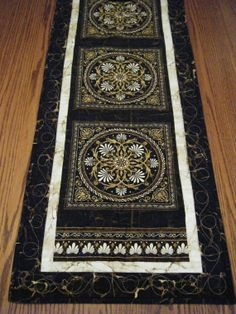 Ebony Stonehenge Aphrodite Table Runner by derstinedesigns on Etsy