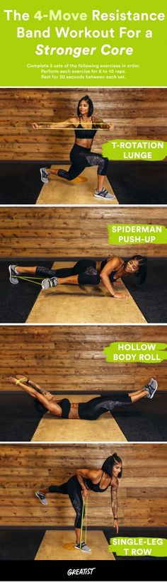 Workout Exercise massy arias resistance band exercise circuit - We're with the band. Fitness Workouts, At Home Workouts, Fitness Tips, Health Fitness, Band Workouts, Health Diet, Fitness Band, Resistance Band Ab Workout, Resistance Loops