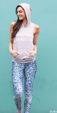Every day is a party when you wear glitter leggings! Shop the look now at www.evolvefitwear.com.