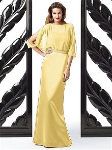 Dessy Collection #yellow #bridesmaid #dress