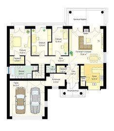 Красивый дом с большим гаражом и с чердачным помещением S8-227-5 (Дом на Парковой). План 1. Shop-project