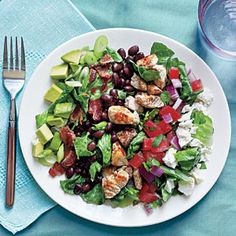 Southwestern Cobb Salad | MyRecipes.com #myplate #protein #vegetable