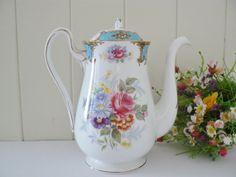 Shelley vintage  Blue Empress coffee pot by MaddyVintageHostess, £40.00