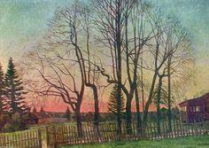 Le début du printemps, huile sur toile de Konstantin Yuon (1875-1958, Russia)