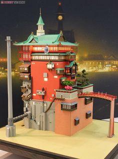 [Miniatuart] Limited Edition `Spirited Away` Aburaya (Unassembled Kit) (Model Train) Other picture 2 Spirited Away Bathhouse, Totoro, Lego Memes, Studio Ghibli Characters, Fantasy Art Landscapes, Studio Ghibli Art, Anime Toys, Hayao Miyazaki, Minecraft Houses