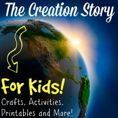 The creation story for kids: Crafts, activities, games, experiments for each day of creation! You'll find lots of resources to teach your child the creation story.
