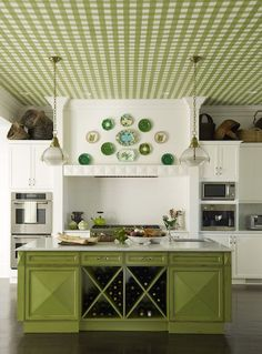 House of Turquoise: 2013 Pantone Color of the Year: decorating kitchen design interior design ideas designs Green Kitchen Cabinets, Kitchen Colors, Kitchen Dining, Kitchen Decor, Kitchen Ideas, Kitchen Updates, Kitchen Designs, Kitchen Images, Room Kitchen