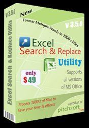 This utility allows users to find and replace multiple words in Microsoft excel 2000, 2003, 2007 and 2010.