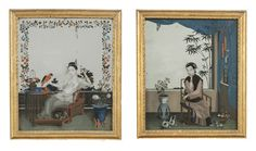 A Pair of Chinese Mirror pictures dating from the late 18th century, with a FASCINATING story... all details on our website