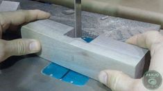 Easy method for cutting a half-lap wood joint.