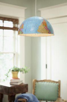 Craft : Ten Lampshades to Make at Home  Globe Lampshade DIY via OregonLive