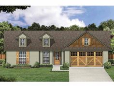 Eplans New American House Plan - Compact Cottage with Rustic Touches - 1173 Square Feet and 3 Bedrooms from Eplans - House Plan Code HWEPL65714