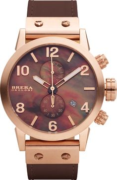 #BreraOrologi Isabella in rosegold with a brown exotic mother of pearl dial.