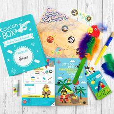 Themed art and craft activities delivered to your door personalized with your child's name. For ages 3 - 8. Create & play the toucanBox way and let your child's imagination out of the box!
