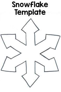 """This snowflake template was made to go with the Decorate a Snowflake art activity. It's simple and easy to cut out and use for a variety of activities. Make sure you choose the """"fit to page"""" option in your print dialogue, if you want it to be bigger like ours. I also cut the templateslightly larger while I am cutting it out too. *Having issues getting the printable? Please check out these helpful hints! If they don't work, please contact me."""