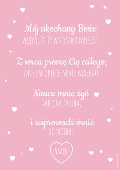 Plakaty z modlitwą Mój ukochany Boże Future Mom, W 6, Powerful Words, Christmas Wishes, Felt Flowers, Motto, Just Love, Baby Room, Cardmaking
