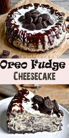 "BEST Oreo Fudge Cheesecake - Recipes Instant You're probably thinking to yourself, ""My goodness. What an incredibly rustic looking cheesecake that is.""Well, that's what twenty dollars . Desserts Nutella, Mini Desserts, Just Desserts, Cinnamon Desserts, Light Desserts, Chocolate Desserts, Yummy Treats, Sweet Treats, Yummy Food"