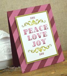 Christmas card...PTI Peace Love Joy Card