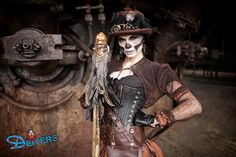#steampunk #costumes #halloween #makeup #behorror