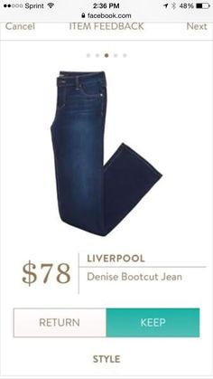 """Liverpool Denise bootcut from Stitch Fix...I got these in a box but they were """"Short"""" length and I need regular."""