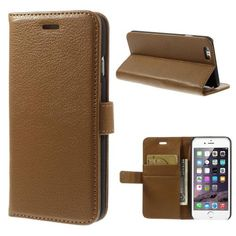 Köp Plånboksfodral Apple iPhone 6/6S brun online: http://www.phonelife.se/planboksfodral-apple-iphone-6-brun