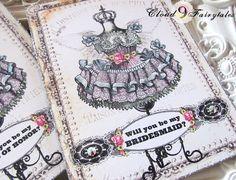 Bridesmaid Card Personalized Will you be my Bridesmaid Gift Custom Greeting Card vintage wedding custom stationary