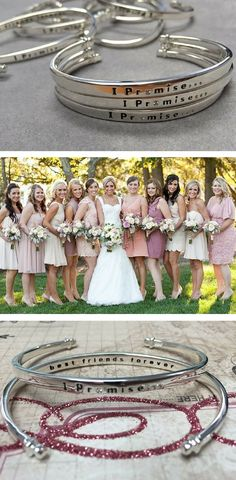 A gift your bridal party will LOVE- a silver and diamond IPromise bracelet ♥