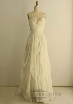 Organza Soft Silk Sweetheart Pleated Column Wedding Dress