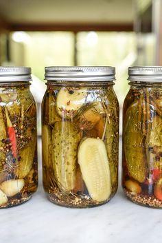 Killer Spicy Garlic Dill Pickles   foodiecrush.com