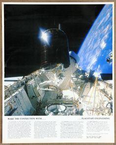 Nasa Space exploration Dale Gardiner Joe Allen Palapa b2 Vintage Lithograph | eBay