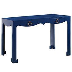 Bungalow 5 Jacqui Navy Console/Desk ~ $1625 ZincDoor.com