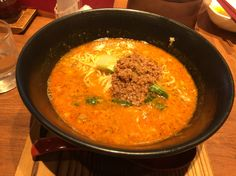 坦々麺の専門店。錦城。ここは、スーパー本物。あまりの美味さに 舌鼓を何回も打ちました。愛知県春日井市にあります。