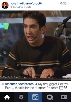 "If Ross Geller From ""Friends"" Had Instagram - BuzzFeed Mobile"