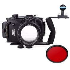 Underwater Housing Diving Case For Sony A6300 16-50mm Red filter Arm Dome Port