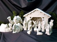 Just relisted one of our Best Sellers in the #etsy shop: Ceramic Nativity Creche Scene Crackle http://etsy.me/2iSR96G #religious #weddinggift #christmas #nativityscene #holidaydecor #christmasdecor #nativityset #epiconetsy