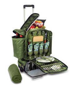 WANT LOVE LOVE LOVE LOVE WANT! YES!YES!YES!YES!YES!YES!YES!YES! WANT LOVE LOVE LOVE LOVE WANT! YES!YES!YES!YES!YES!YES!YES!YES! Look at this #zulilyfind! Green & Blue Geo Excursion Picnic Cooler Set by Picnic Time #zulilyfinds