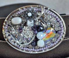 Lavender Ladies Belt Buckle UPcycled Costume by CreativityAtPlay, $58.00