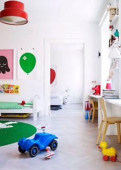 colourful kids' bedroom